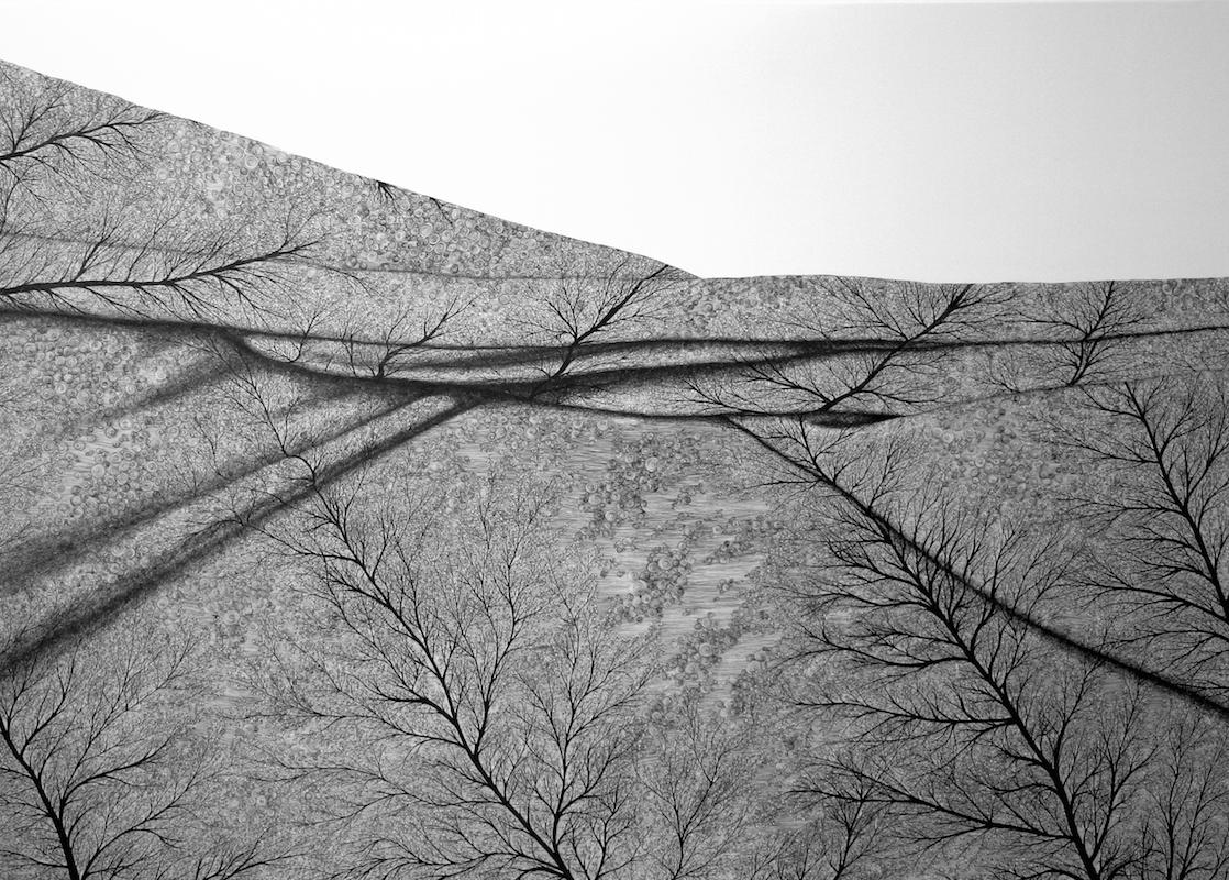Rossi Scrittura Privata, china su tela 100×140