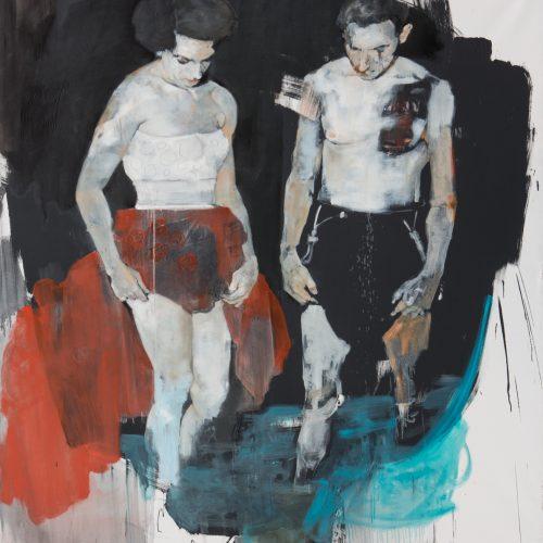 ©MassimoLagrotteria, Thomas and Tereza, 2016, oil on canvas, 180x190-
